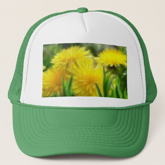 Bright Yellow Dandelions Trucker Hat