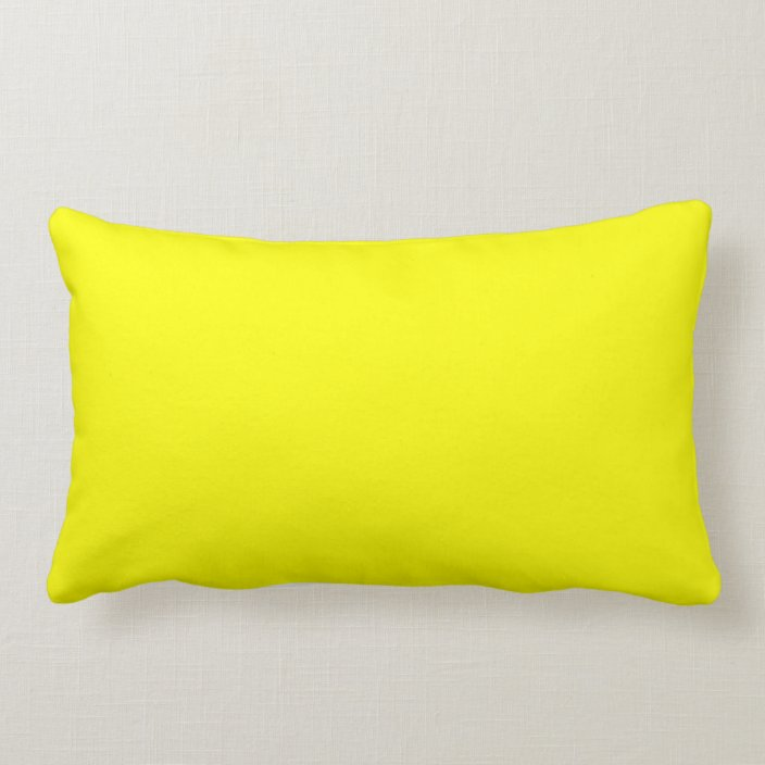 Bright Yellow Decorative Throw Pillows