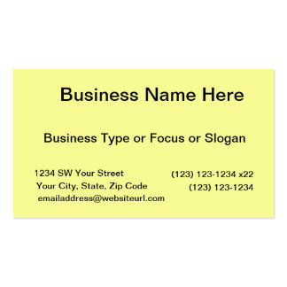 bright yellow DIY custom background template Business Card