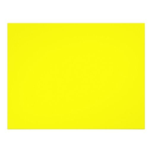 bright yellow DIY custom background template Full Color Flyer