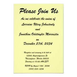 bright yellow DIY custom background template 5x7 Paper Invitation Card