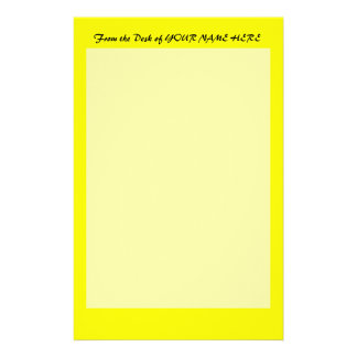 bright yellow DIY custom background template Stationery