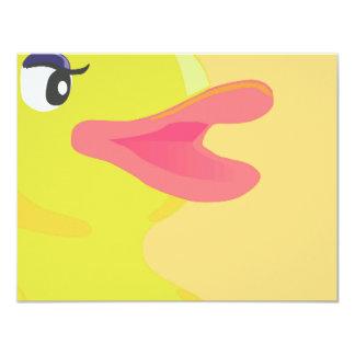 Bright Yellow Duck Big Bill Personalized Invites