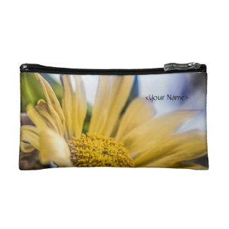 Bright Yellow Flower Cosmetic Bag