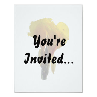 """Bright Yellow Flower Cutout Picture Photo 4.25"""" X 5.5"""" Invitation Card"""