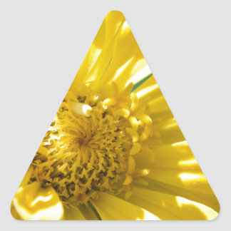 Bright Yellow Flower (Gift) Triangle Sticker