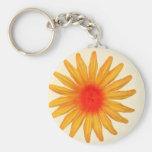 Bright Yellow Flower Keychains