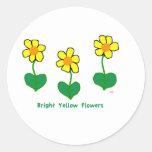 Bright Yellow Flowers Classic Round Sticker