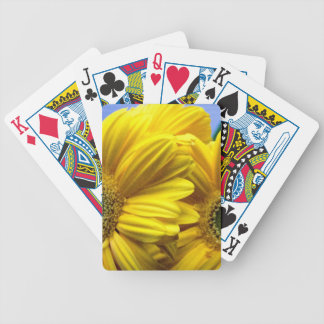 Bright Yellow Flowers (Gift) Bicycle Playing Cards
