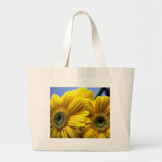 Bright Yellow Flowers (Gift) Large Tote Bag