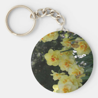 Bright yellow flowers keychains