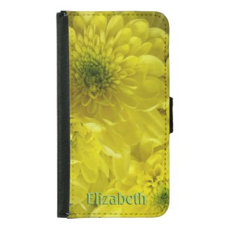 Bright Yellow Flowers Personalized