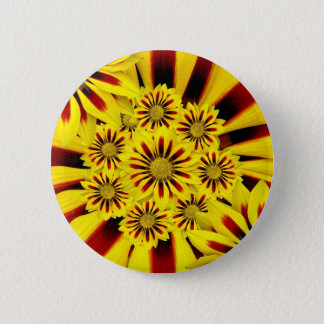 Bright Yellow Flowers Pinback Button
