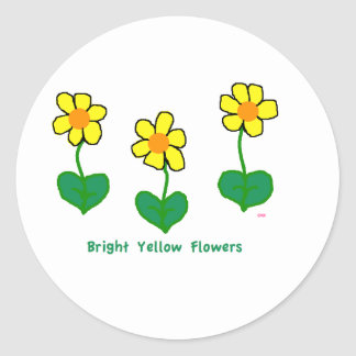 Bright Yellow Flowers Stickers