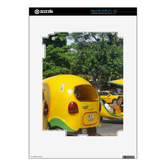 Bright yellow fun coco taxis from Cuba Decals For The iPad 2