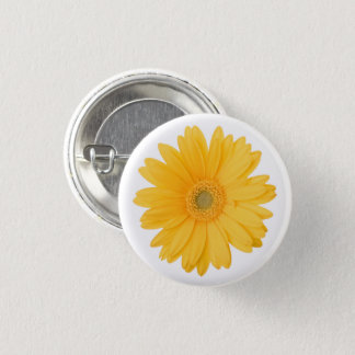 Bright Yellow Gerbera Daisy Flower Button