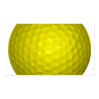 Bright Yellow Golf Ball Double-Sided Standard Business Cards (Pack Of 100)