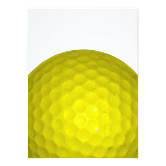 Bright Yellow Golf Ball Card