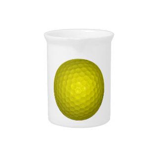 Bright Yellow Golf Ball Drink Pitcher