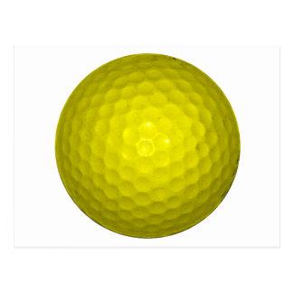 Bright Yellow Golf Ball Postcard