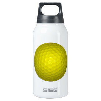 Bright Yellow Golf Ball Thermos Bottle