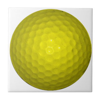 Bright Yellow Golf Ball Small Square Tile