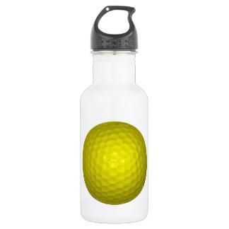 Bright Yellow Golf Ball Water Bottle