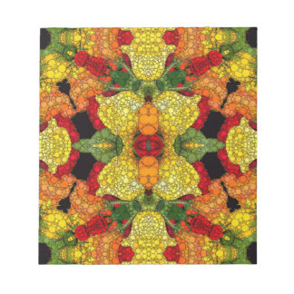 Bright Yellow Green Abstract Note Pad