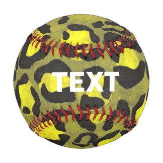 Bright Yellow Grunge Cheetah Baseball