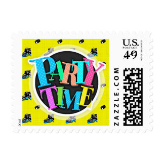 Bright Yellow Hockey Pattern Stamps