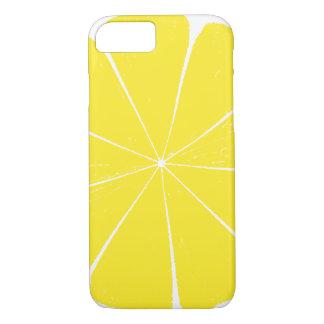 Bright Yellow Lemon Citrus Fruit Slice Design iPhone 7 Case
