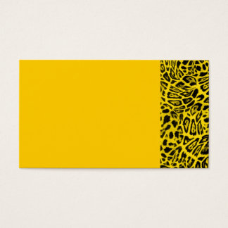 BRIGHT YELLOW LEOPARD WOBBLE PATTERN BACKGROUNDS W BUSINESS CARD