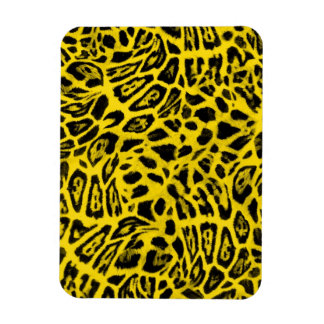 BRIGHT YELLOW LEOPARD WOBBLE PATTERN BACKGROUNDS W MAGNET