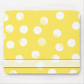 Bright yellow, light yellow, white spotty pattern. mouse pad