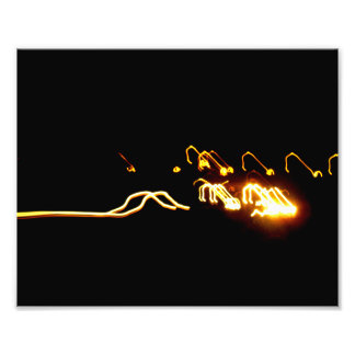 Bright Yellow Lights Art Photo