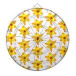 Bright Yellow Lily Pattern. Dartboard