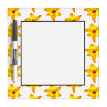 Bright Yellow Lily Pattern. Dry-Erase Whiteboard