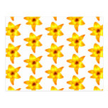 Bright Yellow Lily Pattern. Post Card
