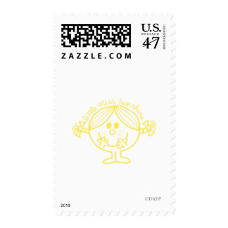 Bright Yellow Little Miss Sunshine Postage
