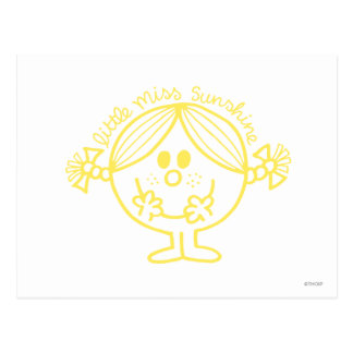 Bright Yellow Little Miss Sunshine Postcard