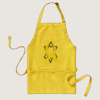 Bright Yellow Liver Cancer Survivor Ribbon Adult Apron