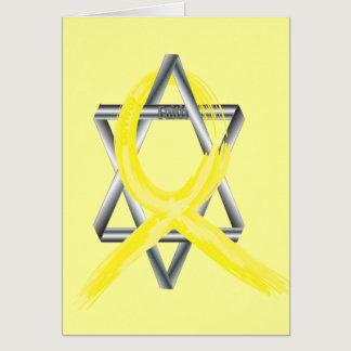 Bright Yellow Liver Cancer Survivor Ribbon Card