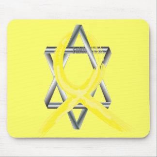 Bright Yellow Liver Cancer Survivor Ribbon Mouse Pad