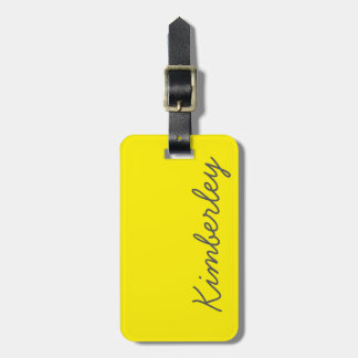 Bright Yellow Neon Monogram Trendy Fashion Colors Tag For Bags