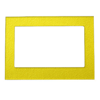 Bright Yellow Neon Trendy Colors Magnetic Frame