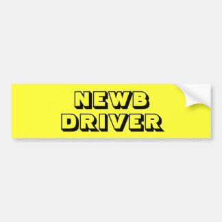 Bright Yellow New - NEWB - Driver Bumper Sticker