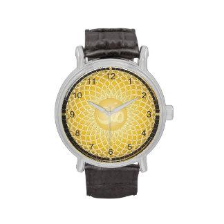 Bright Yellow Om Symbol Watches