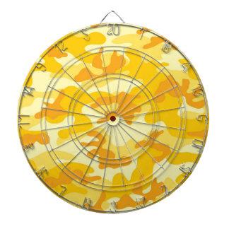 Bright Yellow, Orange Camo, Camouflage Dartboards