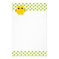 Bright Yellow Owl Stationery