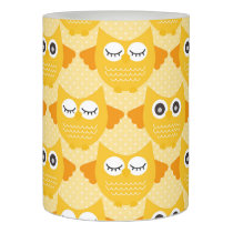 Bright Yellow Owls Flameless Candle